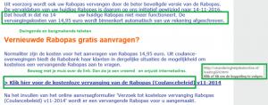 Voorbeeld dreiging in phishing e-mail